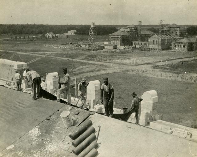 Residence Halls(Commons and South) July 1912 Construction