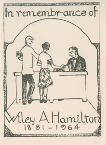 Bookplate Wiley Hamilton