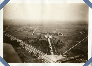 Aerial west across quad 1921