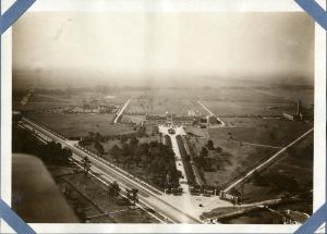 Aerial west across quad 1921
