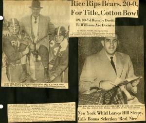 Football 1957 Baylor scrapbook