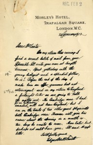 McCants letter from EOL 1912