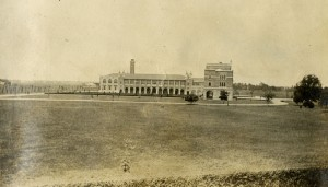 Academic quad from Main Street 1916