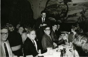 Band dinner c mid 60s Bert Roth and party guy