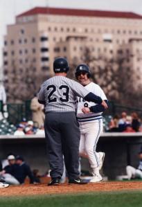 Baseball alumni on the basepaths