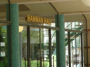 Hamman Hall sign