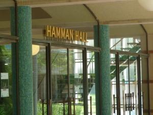 Hamman Hall sign