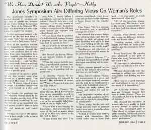 Women's Symposium article 1963