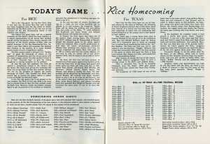 Rice-Texas 1950 program text