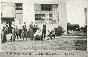 Chemistry Annex w train 1920 Campanile