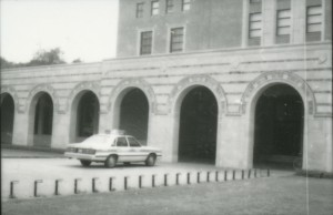 Police car at Fondren c1985