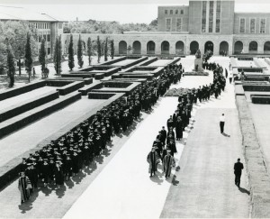 Pitzer inauguration October 10 1962 academic procession