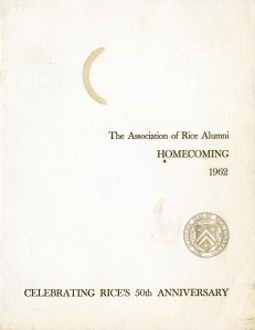 1962 Homecoming program cover
