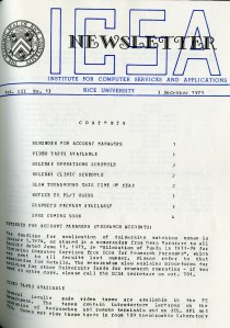 ICSA Holiday Hours 1973 1