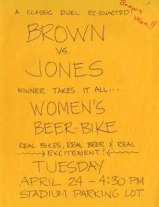Brown beer bike 1973 flyer