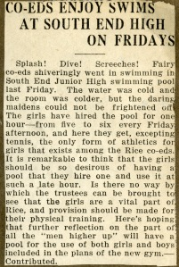 Girls swimming 1919