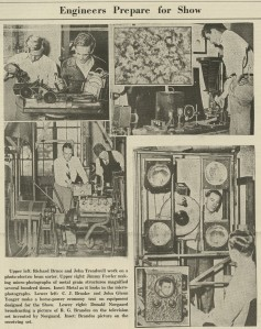 Television Norgaard 1936 Engineering Show