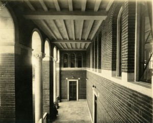 Admin March 1912 interior cloister towards north between second and third floors