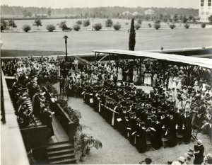 1920 commencement balcony view