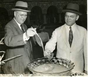 EOL 1941 Garden Party punch President Isaiah Bowman Hopkins