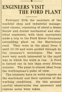 Ford Motor Co field trip 1916 article 3 11