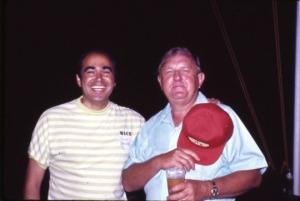 Alex Dessler slides Dessler with Sims 1974