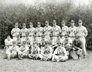 Baseball probably 1956 Wolda