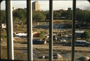JI Davies construction through bars 60s