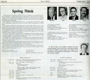 Spring Think 1971