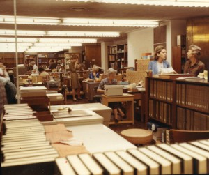 Fondren staff area 1966