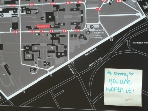 Campus map with encouragement 2014