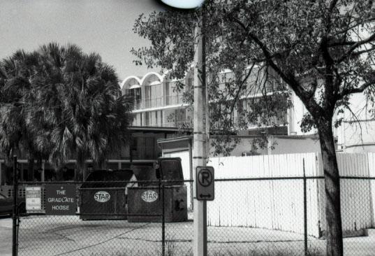 Grad House back gate c1993