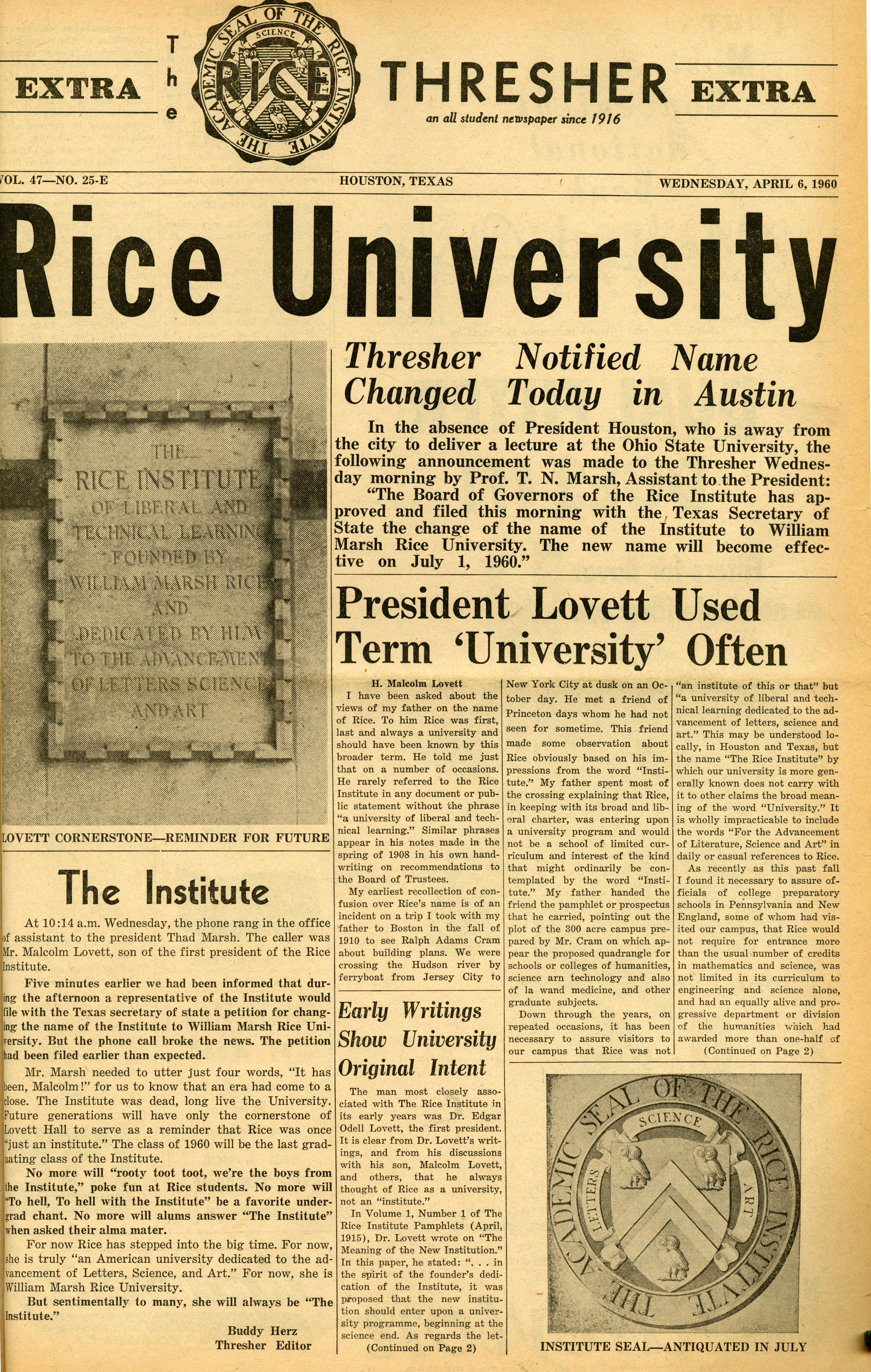 rice university essays 2014