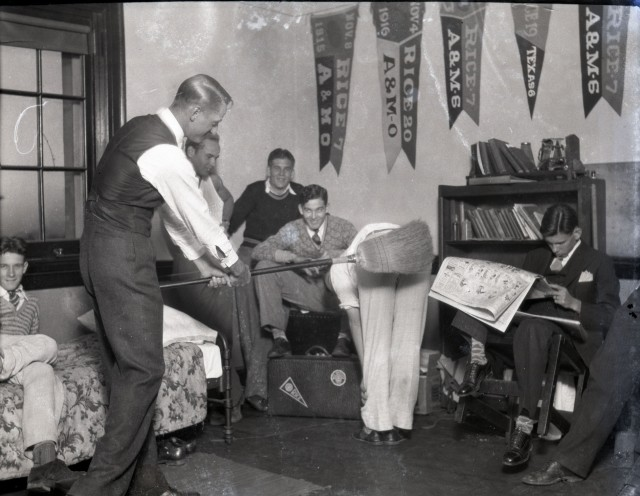 Banners and broom 1930