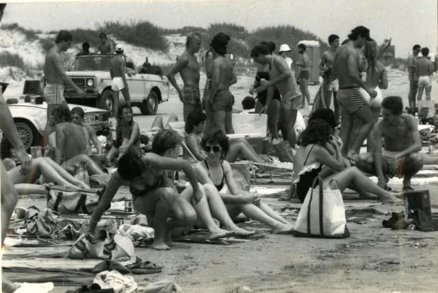 Brown Galvezton beach 1983