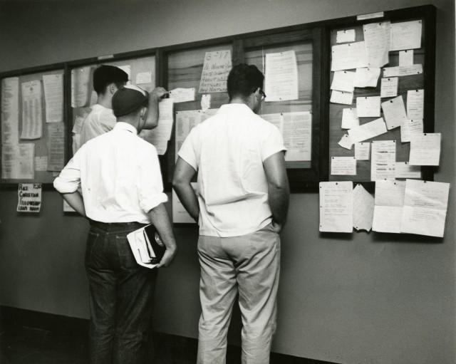 1954 bulletin board