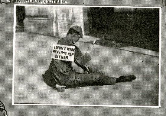 I didnt wear my slime cap 1923 campanile