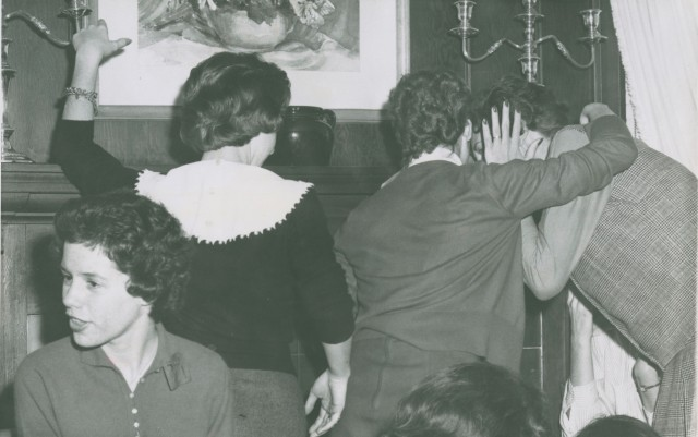 Girls Huddled c1960