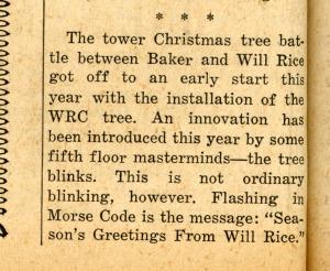 Christmas tree battle December 11 1963