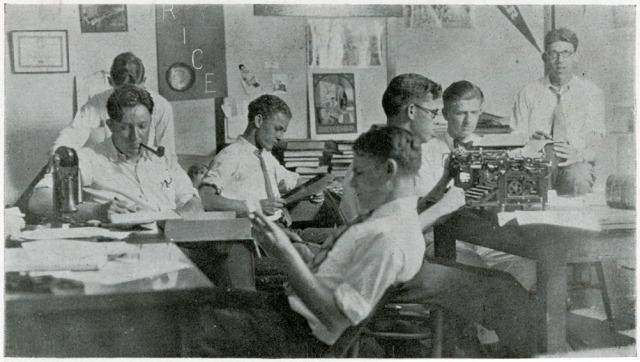 CAmpanile staff 1927 typewriter