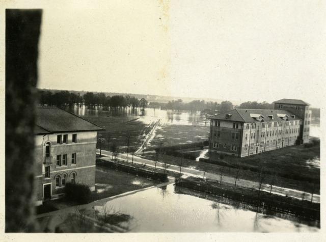 RI scrapbook campus flood March 1922 1