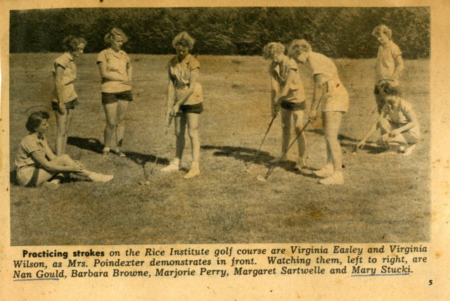 New SLL scrapbook RI golf course 1950