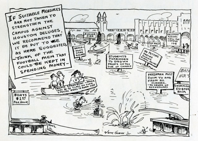 Flood Cartoon 1926 Campanile