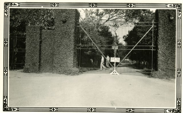 Gate closed c1931