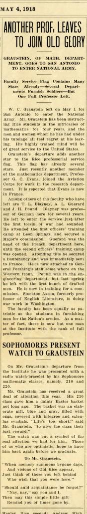 New Graustein story 1918
