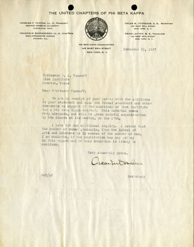 New Phi Beta Kappa question 1927