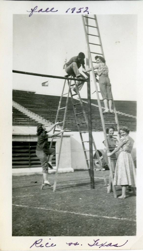 New SLL scrapbook goalpost 1952