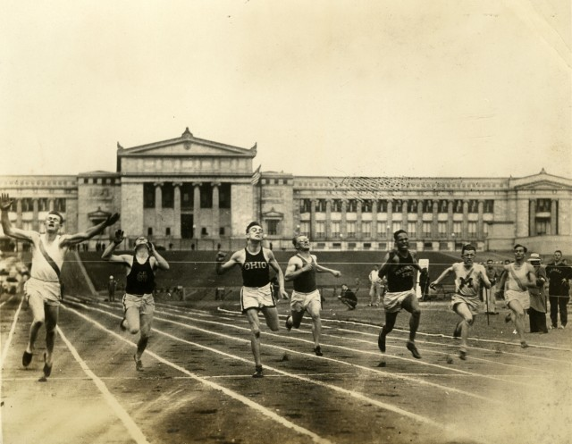 New Claude Bracey at Soldier Field 1928 NCAA