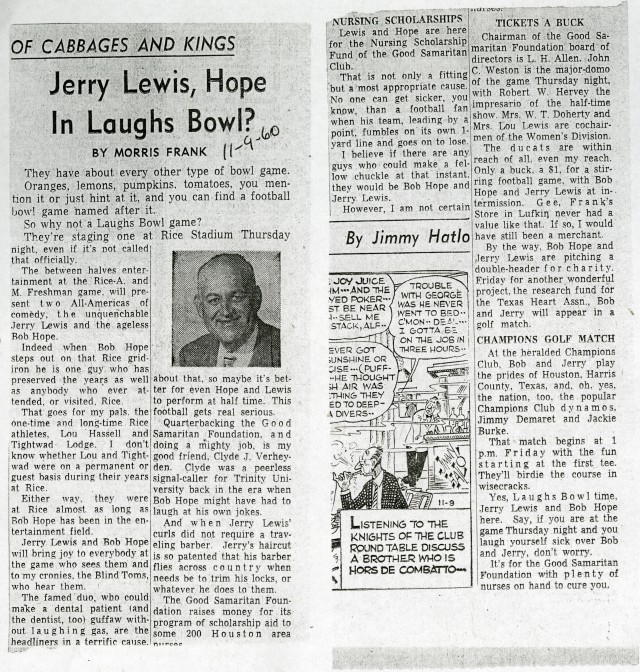 New Bob Hope Jerry Lewis Frank column