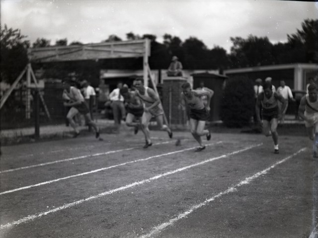 Track meet 1929 or 30 billboards